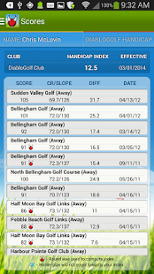 Diablo Golf Handicap Tracker - screenshot thumbnail