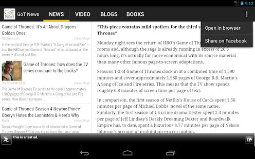 GoT News - screenshot thumbnail