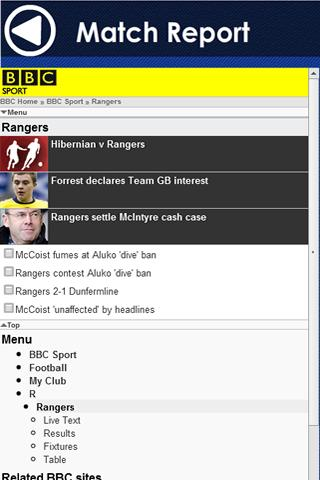 Rangers FC - screenshot