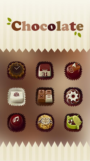 Chocolate Hola Launcher テーマ