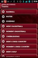 Screenshot of WJU Cardinals