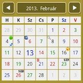 Szolgálati naptár klasszik