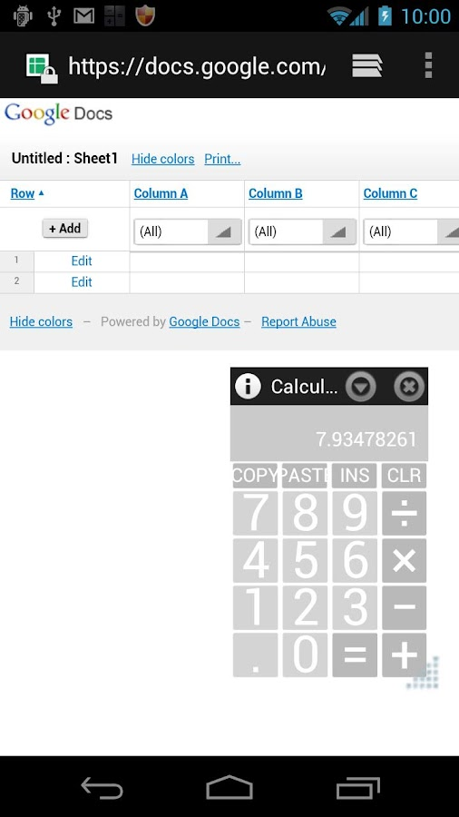 AirCalc On-Screen calculator - screenshot