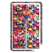 Heart Candy Zipper Screen Lock