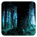 Moonlight fireflies LWP icon