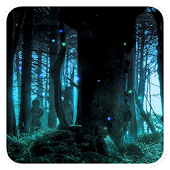Moonlight fireflies LWP
