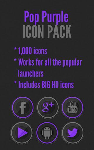 Pop Purple - Icon Pack