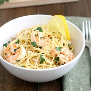 Lemony Shrimp Scampi Pasta.
