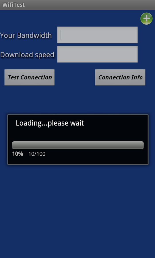 Wifi bandwidth Easy speed Test- screenshot