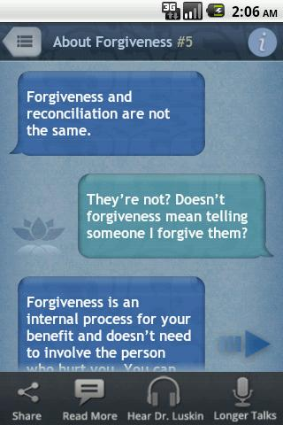 Forgive for Good by Dr. Luskin- screenshot