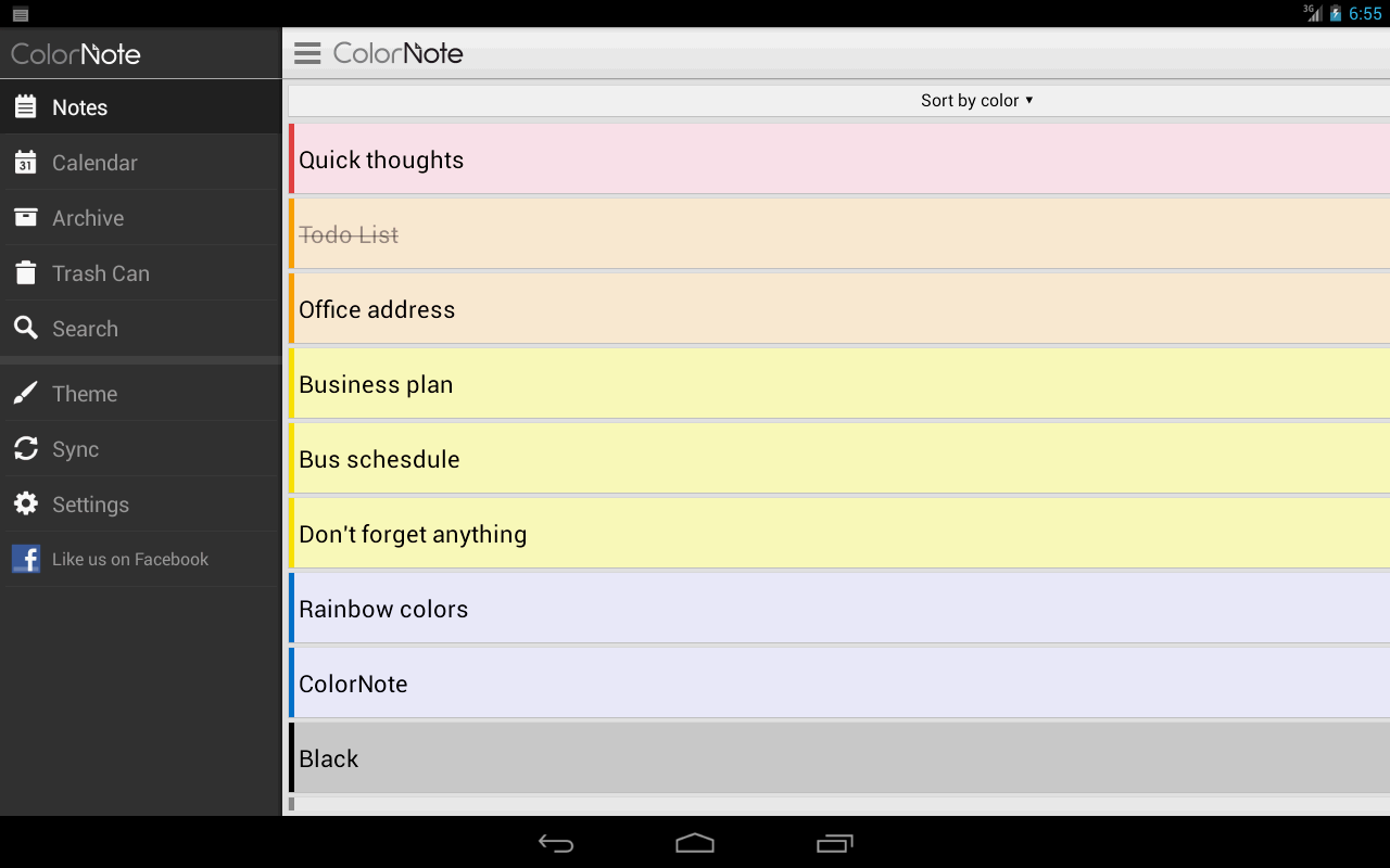ColorNote Notepad Notes- screenshot