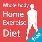 Home exercise diet free(body) icon