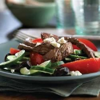 Grecian Beef, Tomato and Cucumber Salad