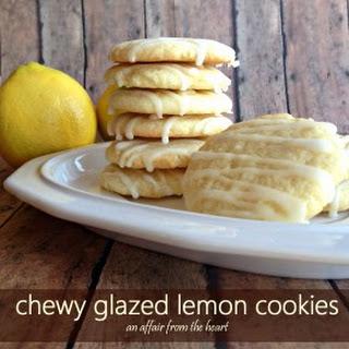Chewy Glazed Lemon Cookies