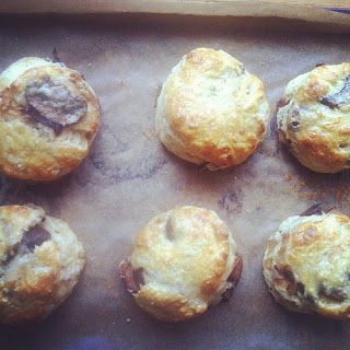 Caramelized Mushroom and Onion Biscuits.