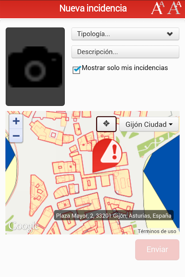 CuidaGijón- screenshot