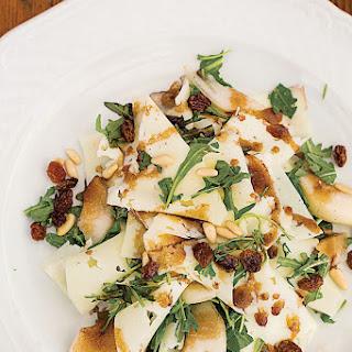 Arugula, Pecorino, Pine Nut, and Pear Salad (Rucola con Pecorino, Pignoli e Pere)