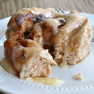 Carrot Cake Sweet Rolls with Maple Frosting