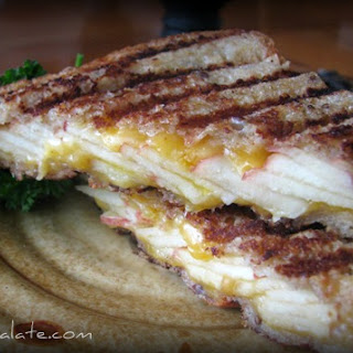 Toasted Whole Grain Apple Cheddar Panini.