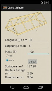 Calcul de surface de toiture- screenshot thumbnail