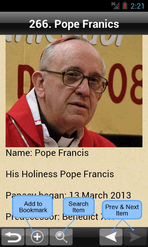 The Catholic Pope Directory - screenshot