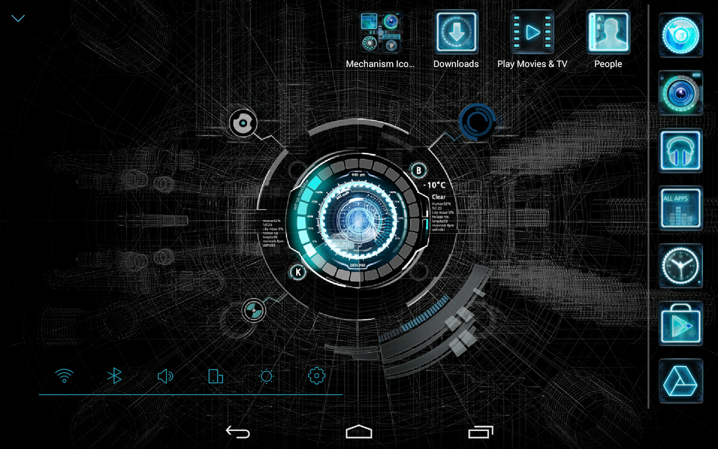 Phone Download Free Themes For Android Phones black mechanic atom theme android apps on google play screenshot