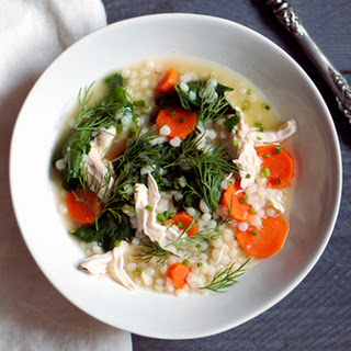 Chicken and Swiss Chard with Couscous in Brodo