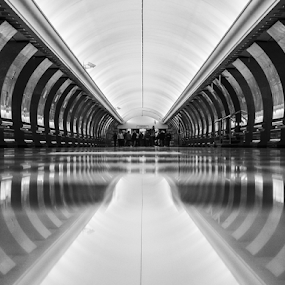 Victory Park subway station in Moscow by Alexander Golev - Buildings & Architecture Other Interior ( subway, russia, station, moscow )
