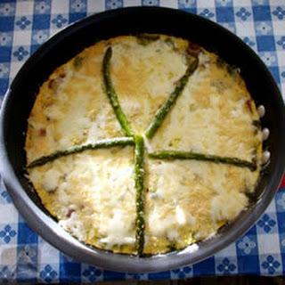 Asparagus and Mushroom Frittata.