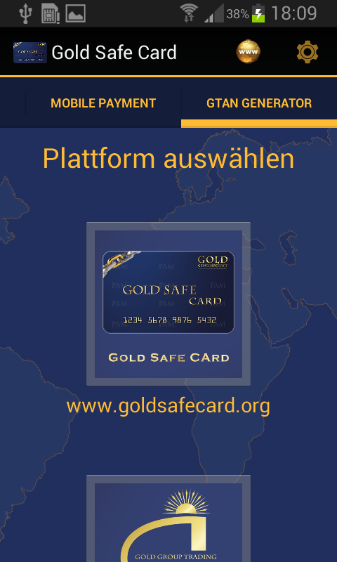 Gold Safe Card- screenshot