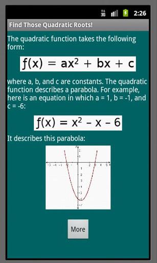 Find Those Quadratic Roots