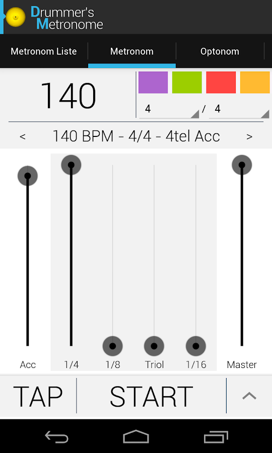 Drummer's Metronome- screenshot