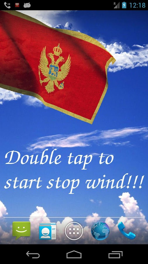 3D Montenegro Flag LWP - screenshot