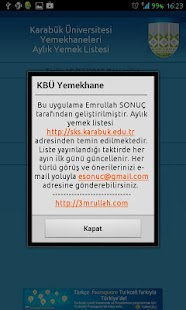 KBÜ Yemekhane- screenshot thumbnail