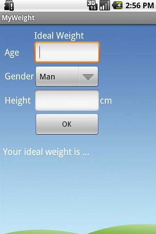 Ideal Weight - screenshot