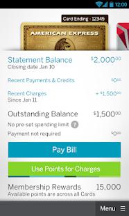 Amex Mobile - screenshot thumbnail