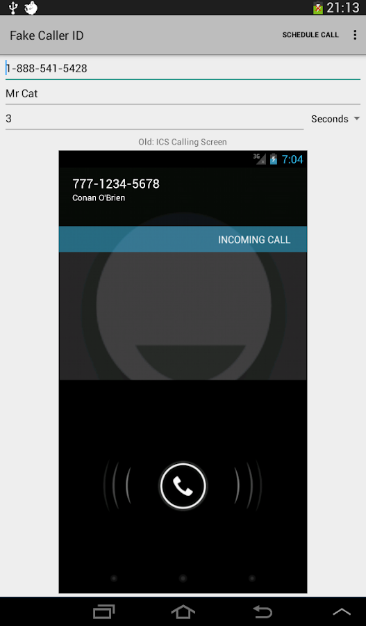 Fake Call - screenshot