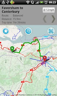 Bike Hub Cycle Journey planner Fitness app screenshot for Android