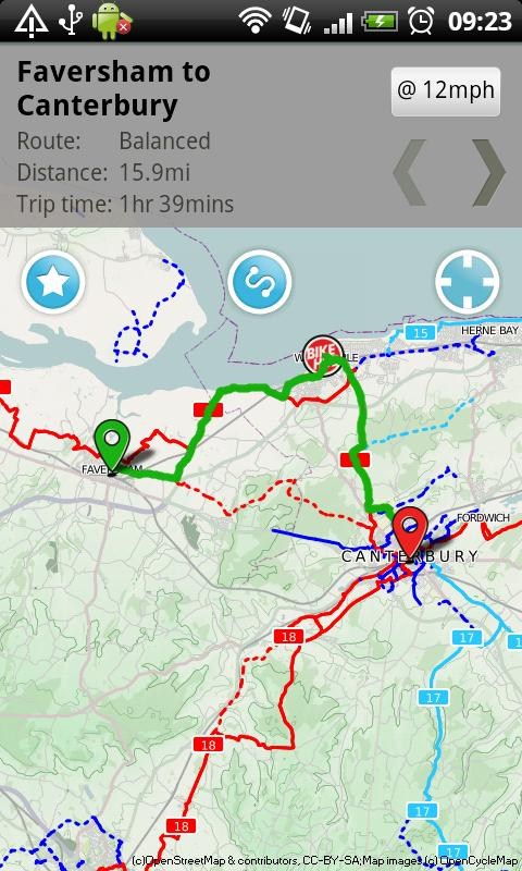 Bike Hub Cycle Journey planner - screenshot