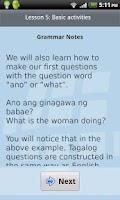 Screenshot of L-Lingo Learn Tagalog Pro