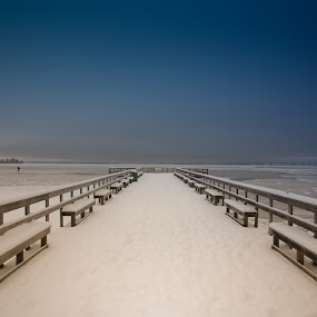 Winter pier by Per-Ola Kämpe - Buildings & Architecture Bridges & Suspended Structures ( winter, ice, snow, pier,  )