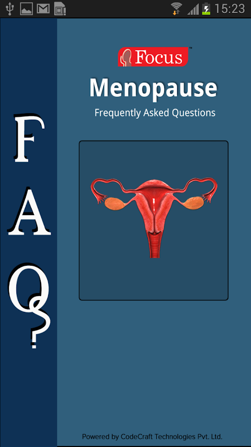 FAQs in Menopause- screenshot