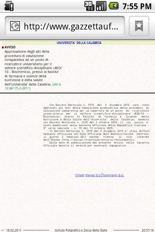 Concorsi Gazzetta Ufficiale - screenshot