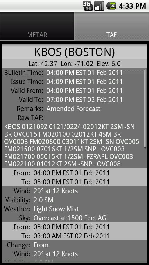 Aviation Weather - GADSoftware - screenshot