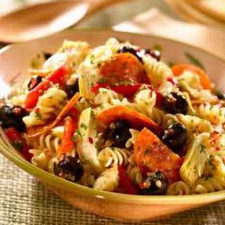 Easy Mediterranean Pasta Salad.