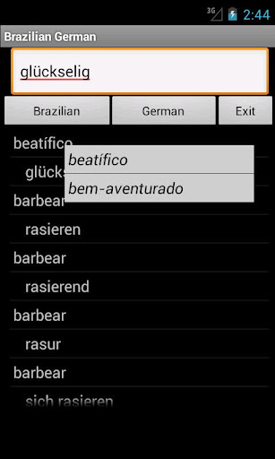 German Brazilian Dictionary