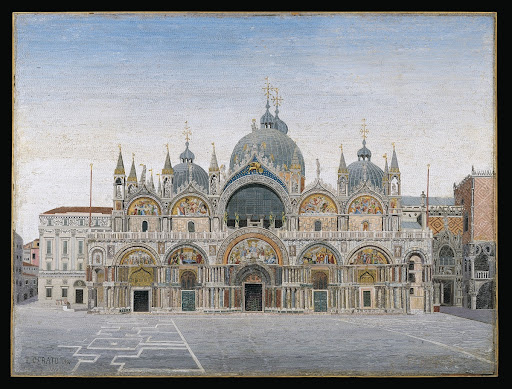 Micromosaic with view of the Basilica of San Marco