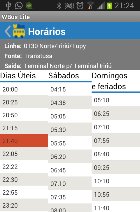 WBus Joinville Lite- screenshot