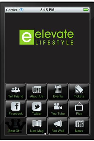 Elevate Lifestyle Mobile APP - screenshot