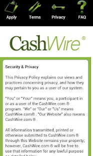 Cashwire Payday Loans- screenshot thumbnail